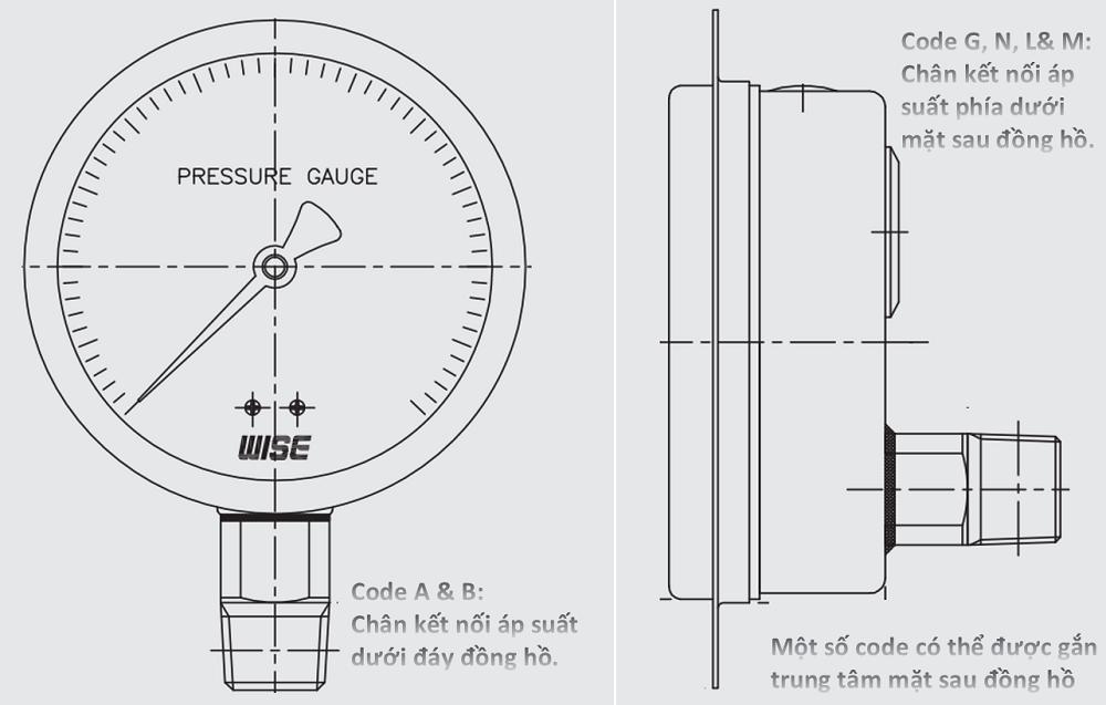 Đồng hồ áp suất P229 - 3