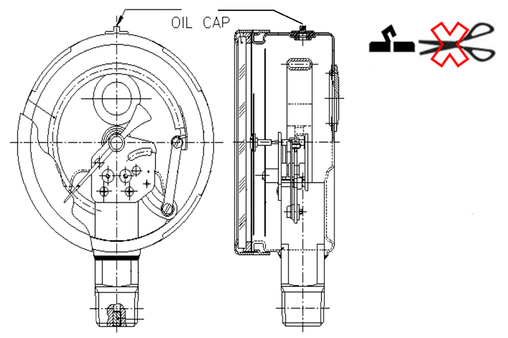 Đồng hồ áp suất P255 - 3
