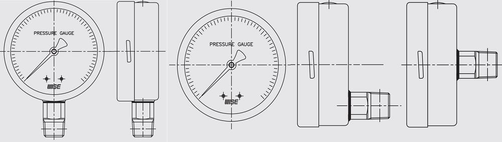 Đồng hồ áp suất P258 - 1