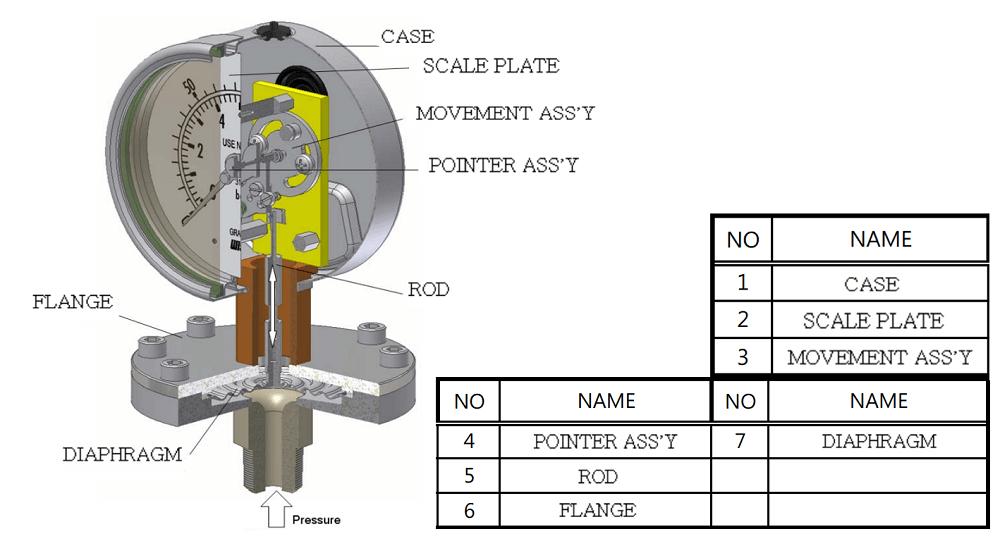 Đồng hồ áp suất P429 -1