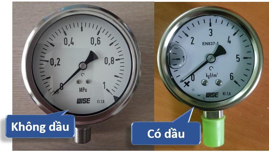 Hiện nay có 2 loại đồng hồ: mặt có dầu và không có dầu