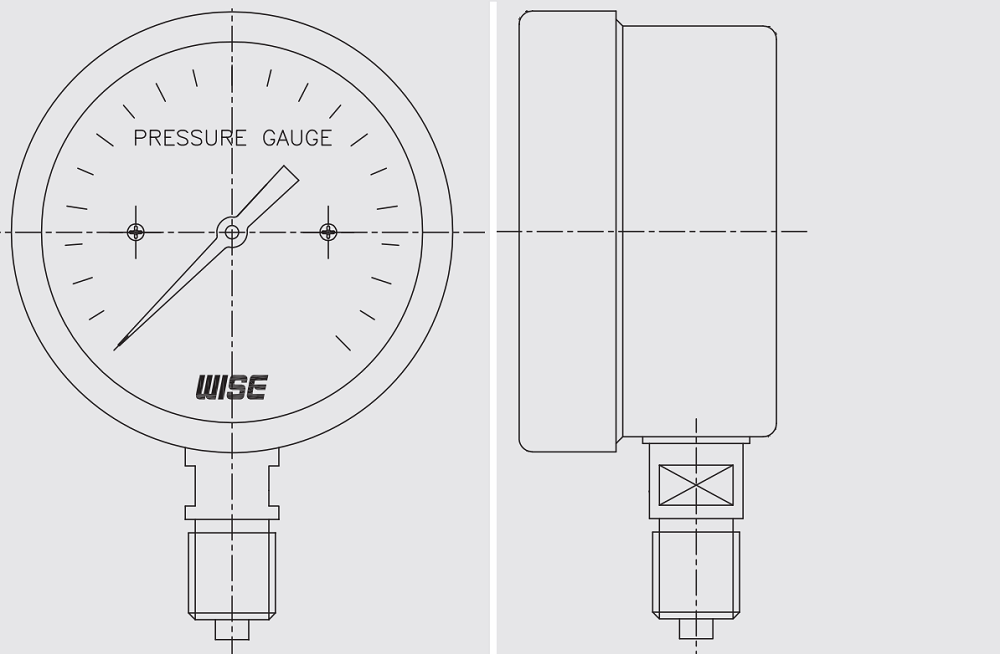 Đồng hồ áp suất P430 - 1