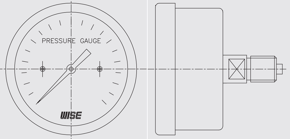 Đồng hồ áp suất P430 - 2