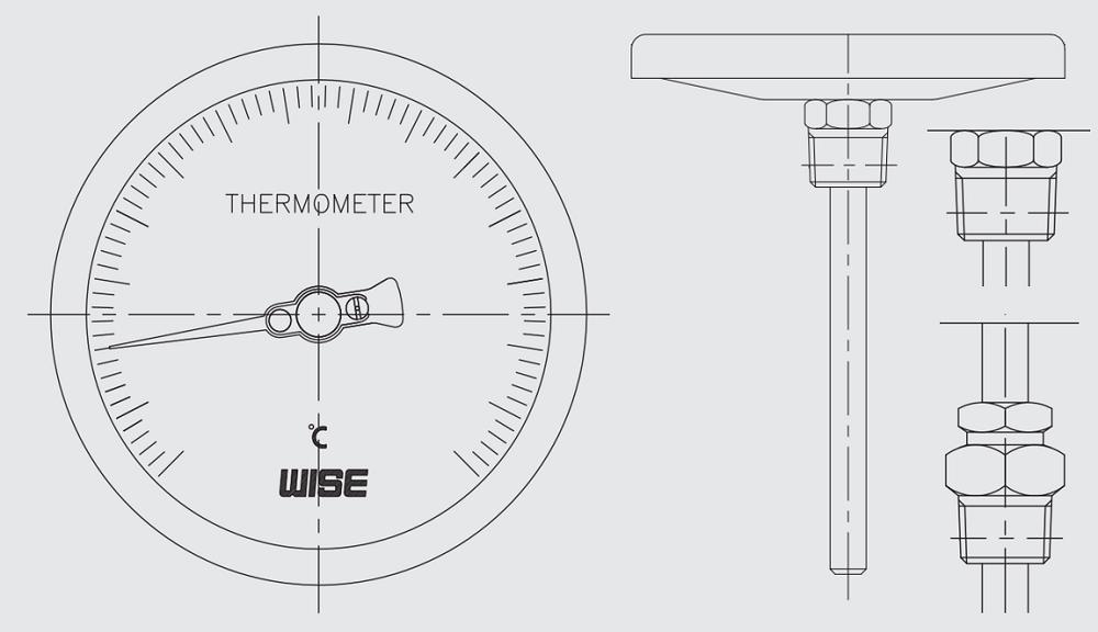Đồng hồ nhiệt độ T110 - 1