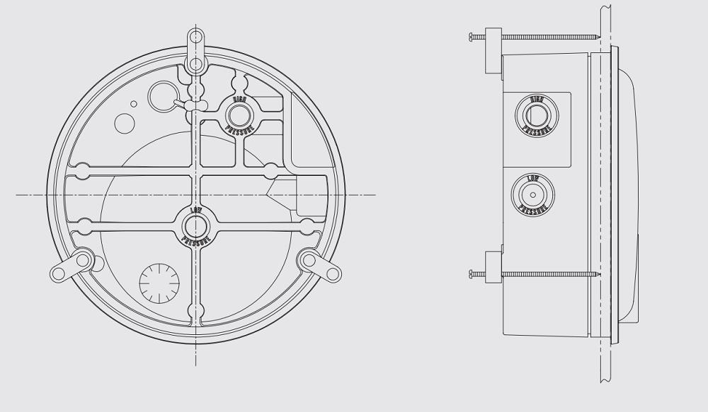 đồng hồ chênh áp P880 - 1