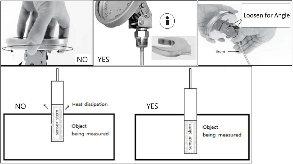 Đồng hồ nhiệt độ T190 - 2
