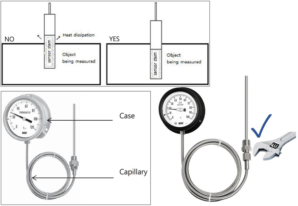 Đồng hồ nhiệt độ T212 - 2