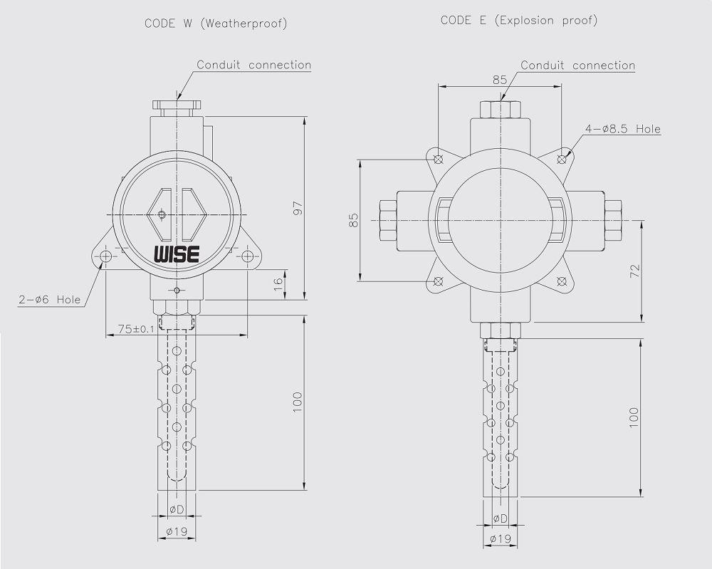 KÍCH THƯỚC cảm biến nhiệt độ R430